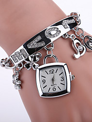 Women Love Alloy Gold/Silver Band Analog Quartz White Case  Wrist Bracelet Bangle Watch Jewelry
