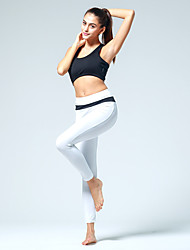 Yoga Pants Tights Breathable / Wicking Natural Stretchy Sports Wear White / Black / Peach Women's OthersYoga / Pilates