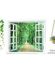ботанический / Натюрморт / Мода / Цветы / Пейзаж / Отдых Наклейки Простые наклейки Декоративные наклейки на стены / Свадебные наклейки,PVC