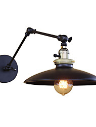 Retro Industrial Style Country Wrought Iron Wall Lights Restaurant Cafe Bars Bar Table Swing Arm Lights Send 1 Bulb