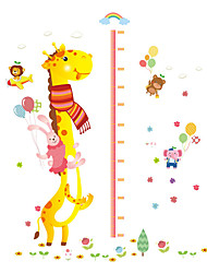 Wall Stickers Wall Decals Style Giraffe Measure Your Height PVC Wall Stickers