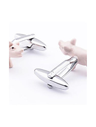 Men's Fashion Pig Style Alloy French Shirt Cufflinks (1-Pair)