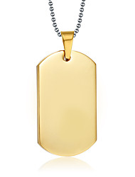 Men's Pendant Necklaces Pendants Gold Plated 18K gold Gold Jewelry Daily Casual 1pc