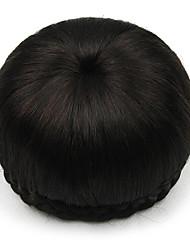 Kinky фигурная черный европы невесты человеческих волос монолитным парики шиньоны SP-002 2009