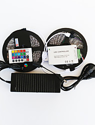 ZDM™ 10 M 600 5050 SMD RGB Cortable / Control Remoto / Regulable / Adecuadas para Vehículos / Auto-Adhesivas / Color variable 144 WTiras