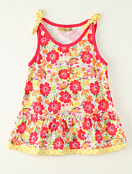 Girl's Going out Print Dress,Polyester Summer Red