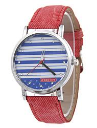 listras moda quartzo diamante nova pouplar correia de couro de senhora sempre amar relógios de relaxamento da moda