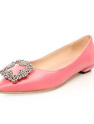 Women's Spring / Summer / Fall / Winter Pointed Toe Silk Wedding / Dress / Party & Evening Low Heel Sparkling GlitterPink / Red / Gray /