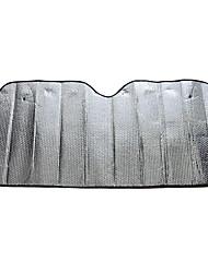 2 peças de PVC preto pvc auto frente guarda-sóis de pára-brisa protetor solar 96 * 52 centímetros