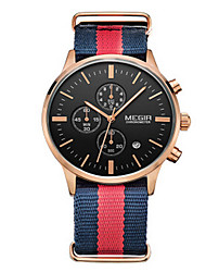 MEGIR® Men's Fabric Band 30M Water Resistant Dress Casual Watch Jewelry Fashion Wrist Watch Cool Watch