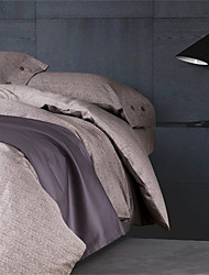 Luxury Egyptian Cotton 4PC Duvet Set Simple Style Queen King Size