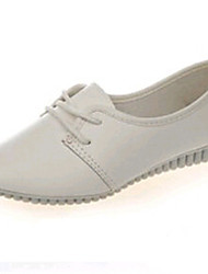 Women's Shoes PU Flat Heel Comfort / Ballerina Flats Outdoor / Office & Career / Dress / Casual Black / White