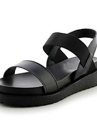 Women's Shoes Leatherette Platform Platform / Comfort Sandals Office & Career / Dress / Casual Black / White
