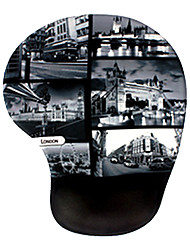 mousepad massagem silicone vintage - londres