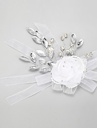 Women's Flower Girl's Rhinestone Crystal Alloy Chiffon Headpiece-Wedding Special Occasion Flowers 1 Piece