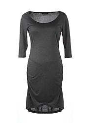 Women's O-Neck Slim Fit Three Quarter Sexy Bodycon Women Plus Size Dress Lady Casual Office Wear Femininos Vestidos