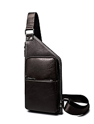 Men-Formal / Sports / Casual / Outdoor / Office & Career / Shopping-PU-Cross Body Bag-Brown / Black