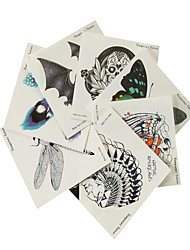 7PCS Difference Style Halloween Waterproof Tattoo Stickers