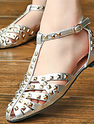 Women's Shoes Flat Heel Slingback Sandals Dress Black/White/Silver