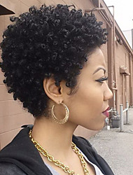"HOT!! Short Brazilian Virgin Hair Full Lace Wigs Human Hair Wigs 8""-30""Kinky Curly Lace Front Wig"