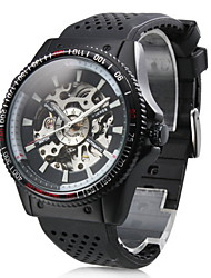 Men's Auto-Mechanical Hollow Dial Rubber Band Watch Wrist Watch Cool Watch Unique Watch