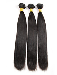 3 Bundles Virgin Brazilian Natural Straight Human Hair Weave Extension 300g Unprocessed Remy Hair Products Black