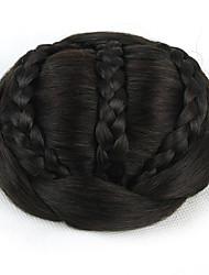 Kinky фигурная черный европы невесты человеческих волос монолитным парики шиньоны SP-189 2/33