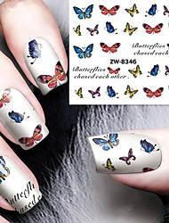 Fashion Printing Pattern Water Transfer Printing Butterfly Nail Stickers