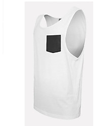 Men's Sleeveless Tank Tops,Cotton Casual / Sport Patchwork