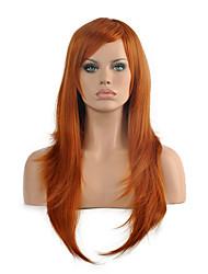 Femme Perruque Synthétique Sans bonnet Mi Longue Raide Brun claire Perruque Halloween Perruque de carnaval Perruque Déguisement