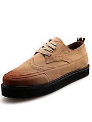 Британский стиль мужской коровьей кожаной обуви высота платформы увеличивается обувь