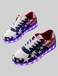 donne hanno portato scarpe usb carica scarpe da ginnastica di moda in similpelle esterna / atletica blu / casuale