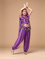 Belly Dance Costumes Women's Performance Chiffon Sequins Outfits