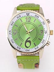 Montre quelques genève genève nouvelle montre bracelet de couleur de quartz coloré (couleurs assorties)