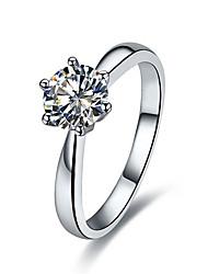 Кольца Свадьба Бижутерия Стерлинговое серебро Женский Массивные кольца 1шт