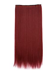 comprimento sintética vermelha 70 centímetros de receber um cabelo de ondulação chip de pílulas cabelos lisos (bug cor)