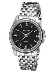 SYNOKE Men's Wrist watch Casual Watch Quartz Japanese Quartz Stainless Steel Band Silver