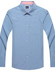 Men's Long Sleeve Shirt,Cotton Casual / Work /Sport Plaids