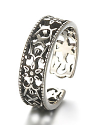 Unisex Vintage Pattern Punk Hollow Flower Antique Sterling Silver Ring Band Rings Daily / Casual 1pc