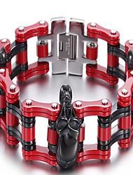 Kalen®Bracelet Chain Bracelet Skull Halloween / Daily / Casual Jewelry Gift Red,1pc