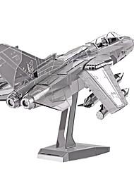 Jigsaw Puzzles 3D Puzzles / Metal Puzzles Building Blocks DIY Toys Aircraft Metal Silver Model & Building Toy