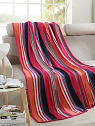 "Solid Knitted Blanket Full Cotton 47""*71"""