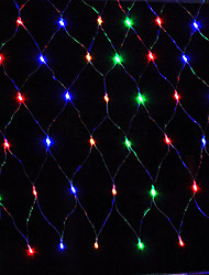conduit 1.5x1.5m lumière net 96LED chaîne mariage de vacances de fête lumières net décoration noël lumière eu bouchon AC220V ou AC110V