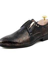 Men's Shoes Wedding / Office & Career / Party & Evening / Dress / Casual Patent Leather Oxfords Black