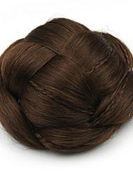 crépus chignons bouclés capless mariée europe brun cheveux humains perruques sp-130 2009