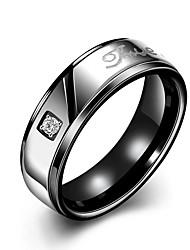 Ringe Modisch Hochzeit / Party / Alltag Schmuck Titanstahl / Rose Gold überzogen Paar Eheringe 1 Stück,6 / 7 / 8 / 9 / 10Schwarz /