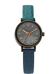 Mulheres Relógio de Moda Quartz Impermeável Couro Banda Preta / Cores Múltiplas marca