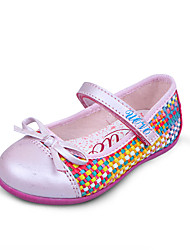 Girl's Spring / Summer / Fall Comfort / Round Toe / Closed Toe PU Dress / Casual Flat Heel Magic Tape / Braided Strap Blue / Pink