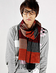 Unisex Wool Casual Men's Plaid Cashmere Fringed Scarves Warm Scarf