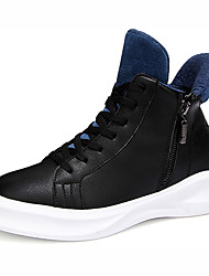 Men's Shoes Casual PU Fashion Sneakers Black / White / Black and White